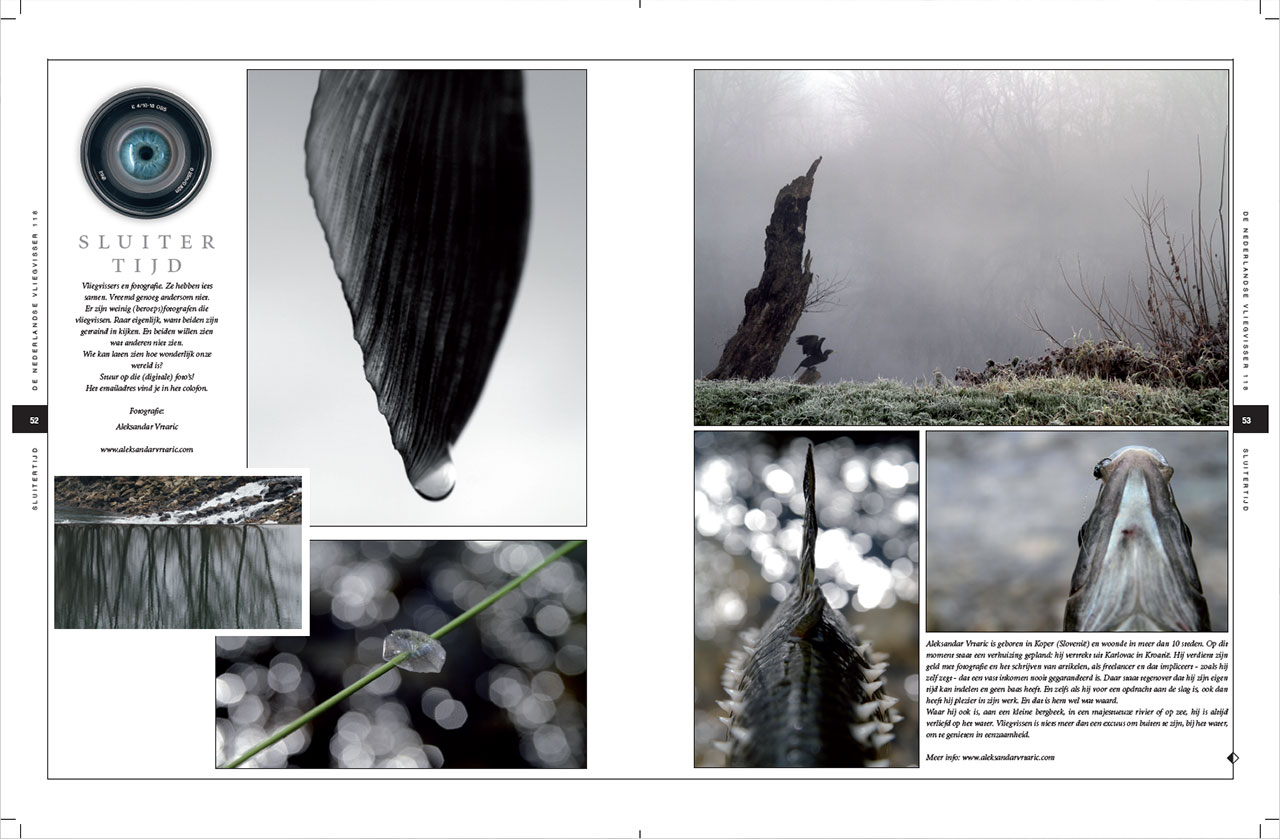 "FEATURED PHOTOGRAPHER IN ""DE NEDERLANDSE VLIEGVISSER"" MAGAZINE"